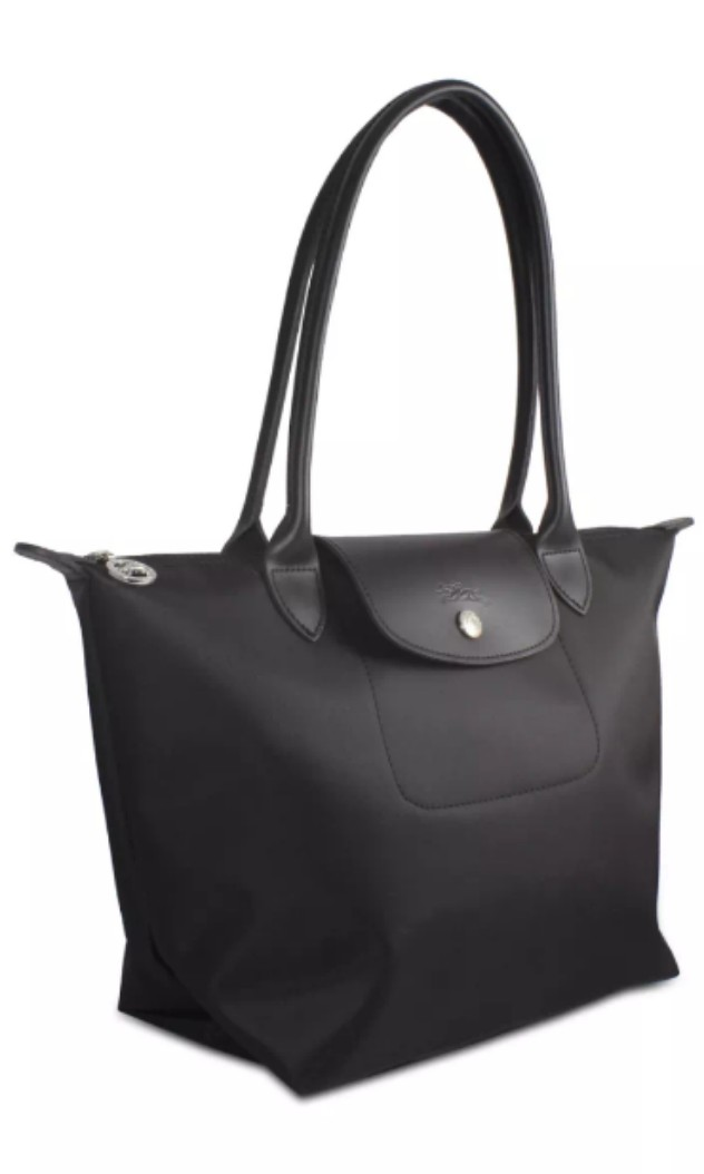 5f640443bb Authentic Longchamp planetes 2605 black small long handle tote ...