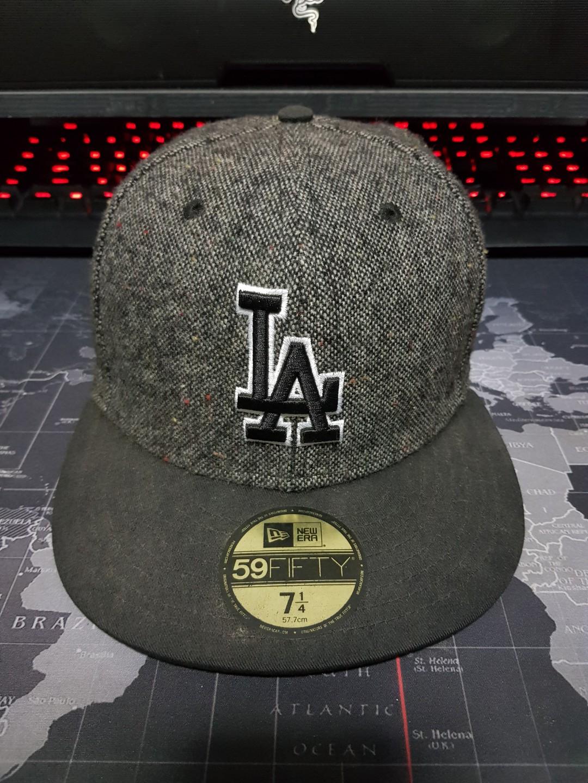 14c500dab4a552 AUTHENTIC NewEra x MLB LA Dodgers Fitted Baseball Cap, Men's Fashion ...