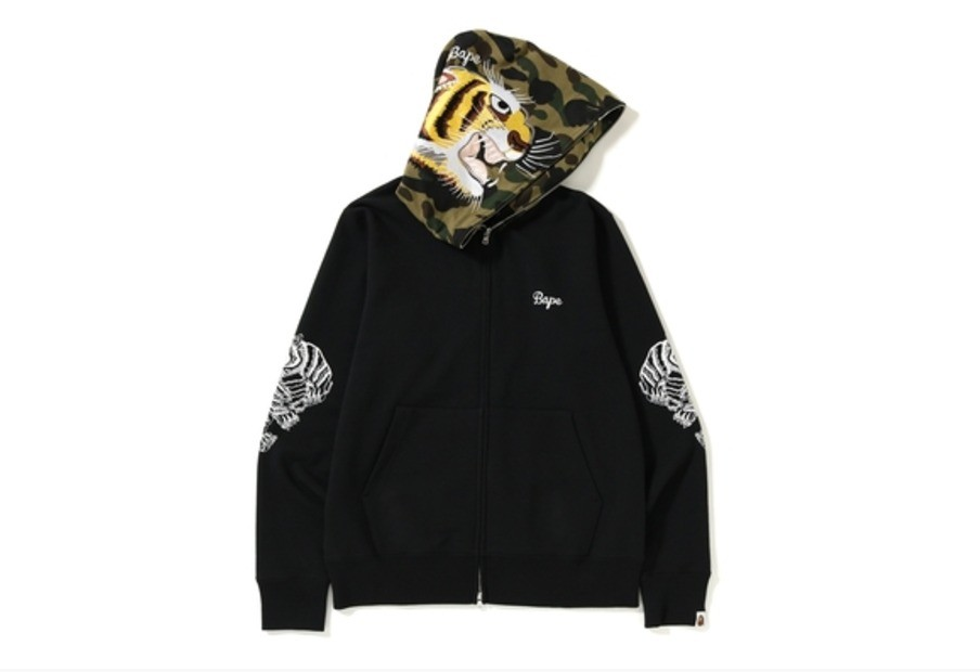 bbcc6378 BAPE Tiger Embroidery Full Zip Hoodie, Men's Fashion, Clothes, Tops ...