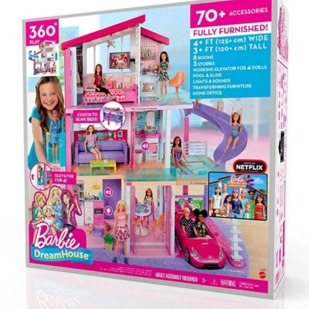 Barbie Adventure Dreamhouse Fully Furnished Three Storey House Play
