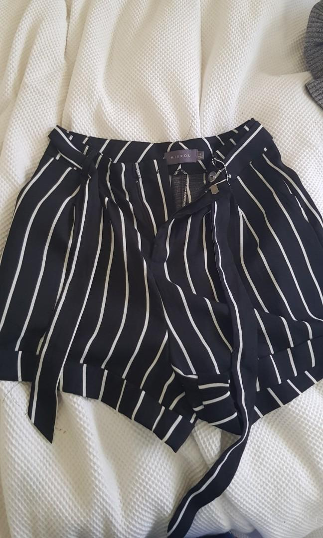 Black and white summer shorts