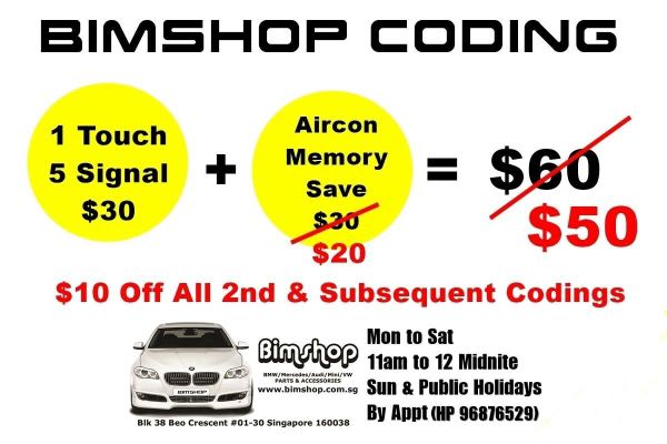 BMW Coding Services - $10 off all 2nd & subsequent codings (from 15