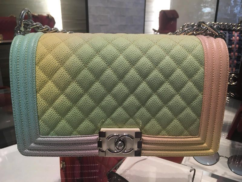 0ecb3fbddfc4 Boy Chanel Medium Rainbow Flap Bag, Luxury, Bags & Wallets, Handbags ...