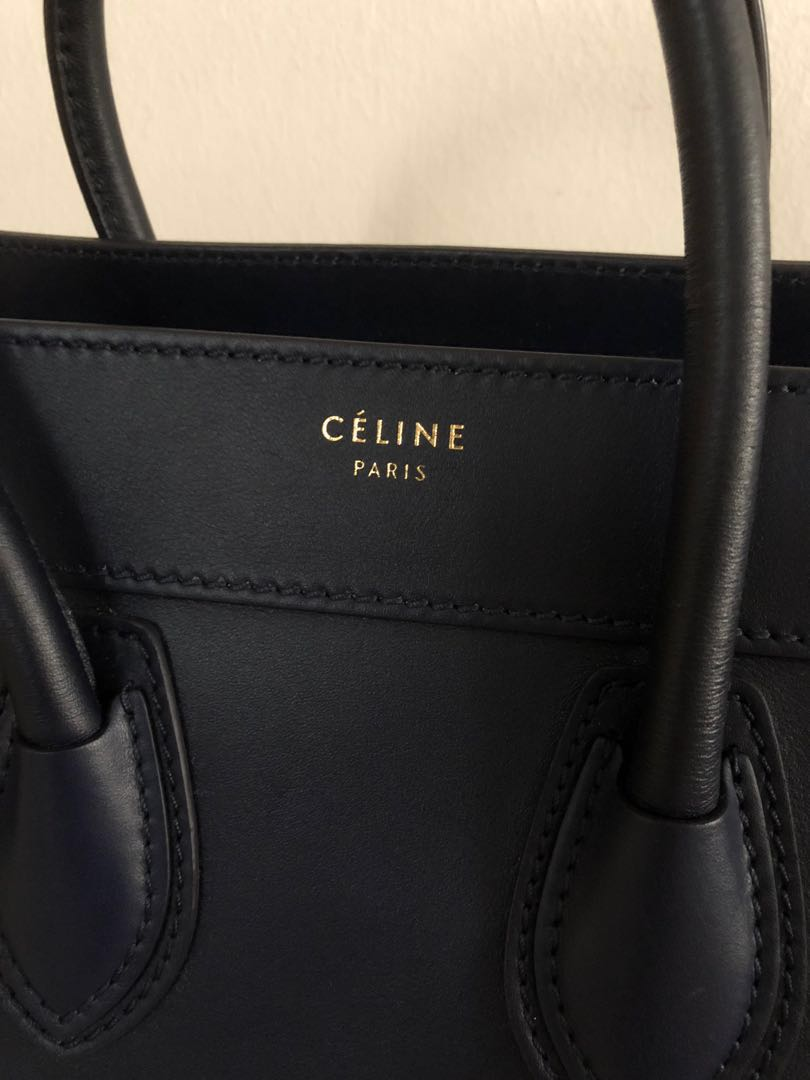 Celine Micro Luggage (Ink) a2db1533d740b