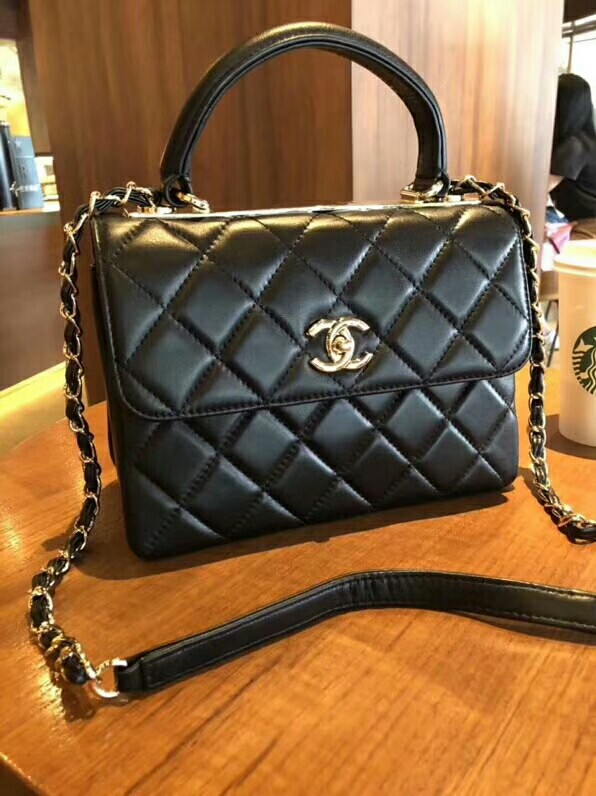 d625122e3a06 Chanel lambskim quilted small trendy cc flap dual handle bag ...
