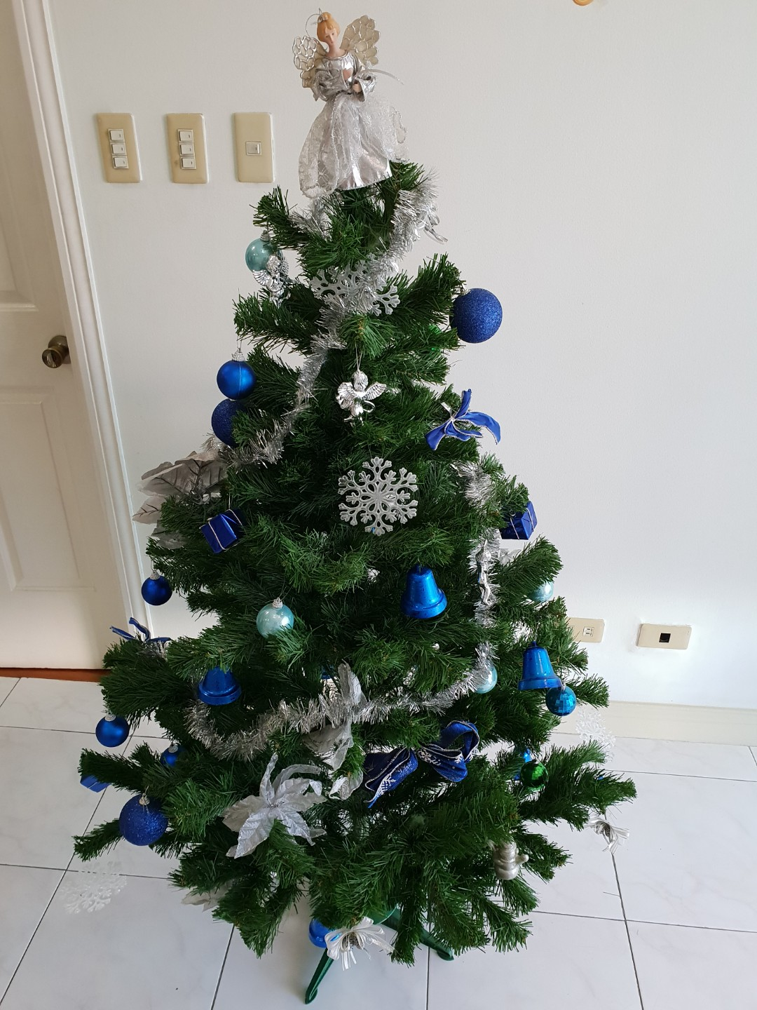 decorated christmas tree home furniture on carousell