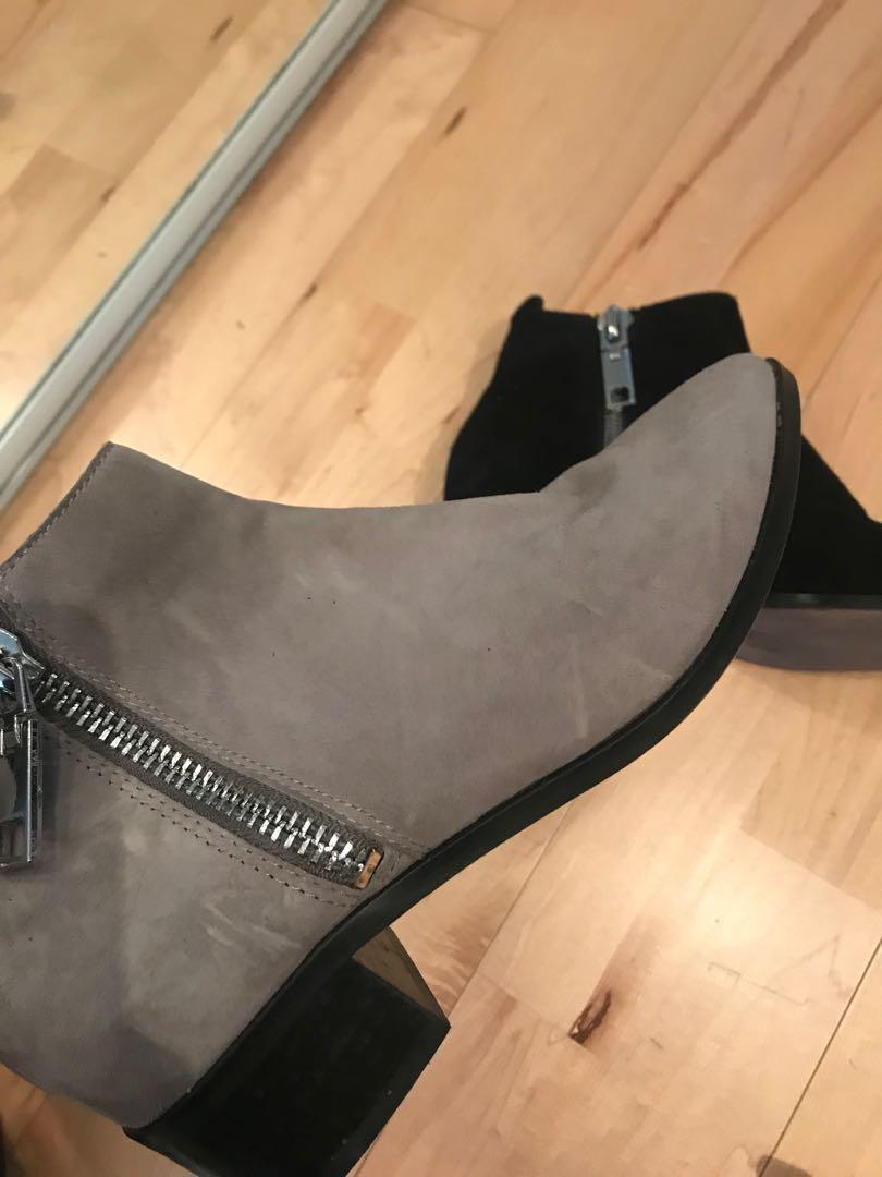 Dolce Vita Suede Zipper Ankle Boots