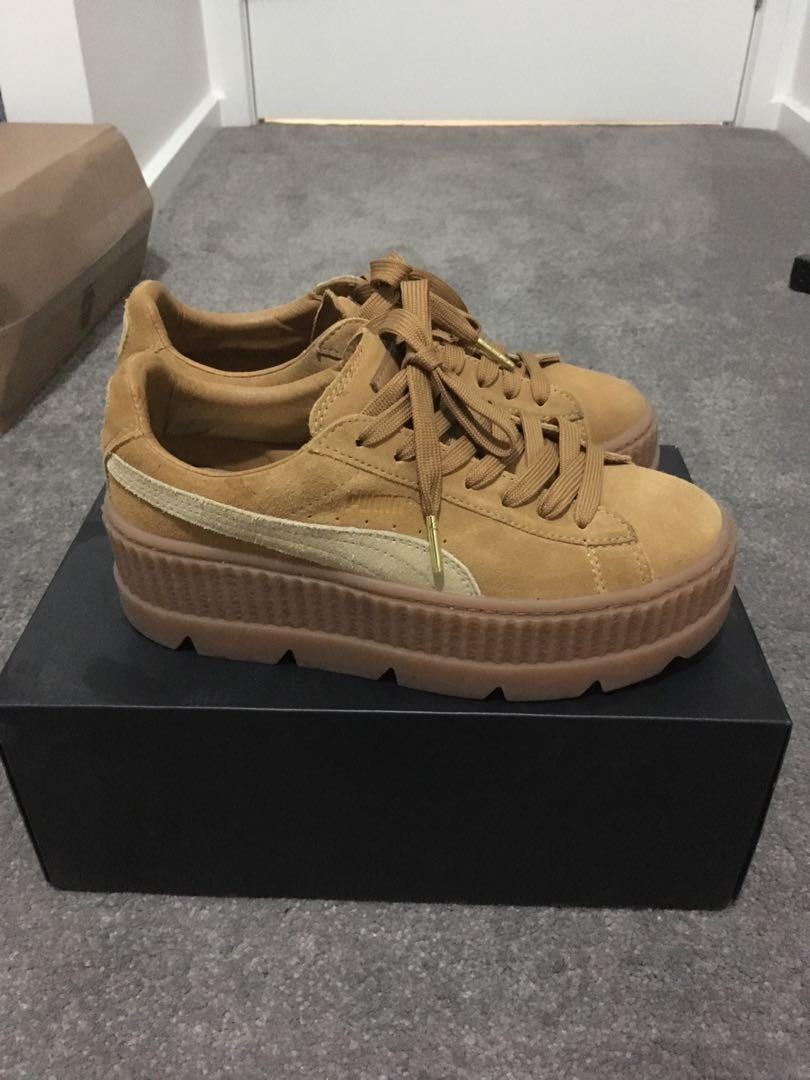 Fenty Puma Cleated Creeper Tan/Suede Shoes