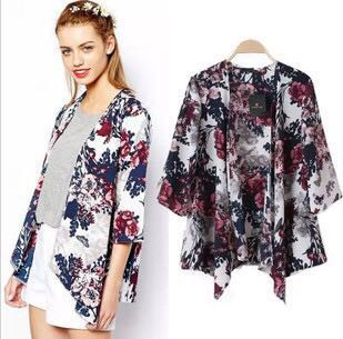 b09918b8a9 Floral Cardigan Jacket Shawl Coat for women woman ladies girl cardigan  jacket coat office work kimono outerwear summer Simple Fashionable casual  trendy