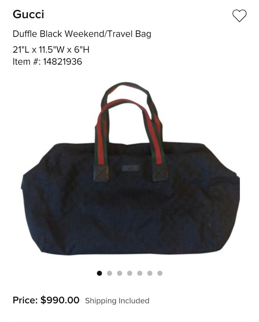eacca0c85f59 Gucci GG Canvas Duffle Bag
