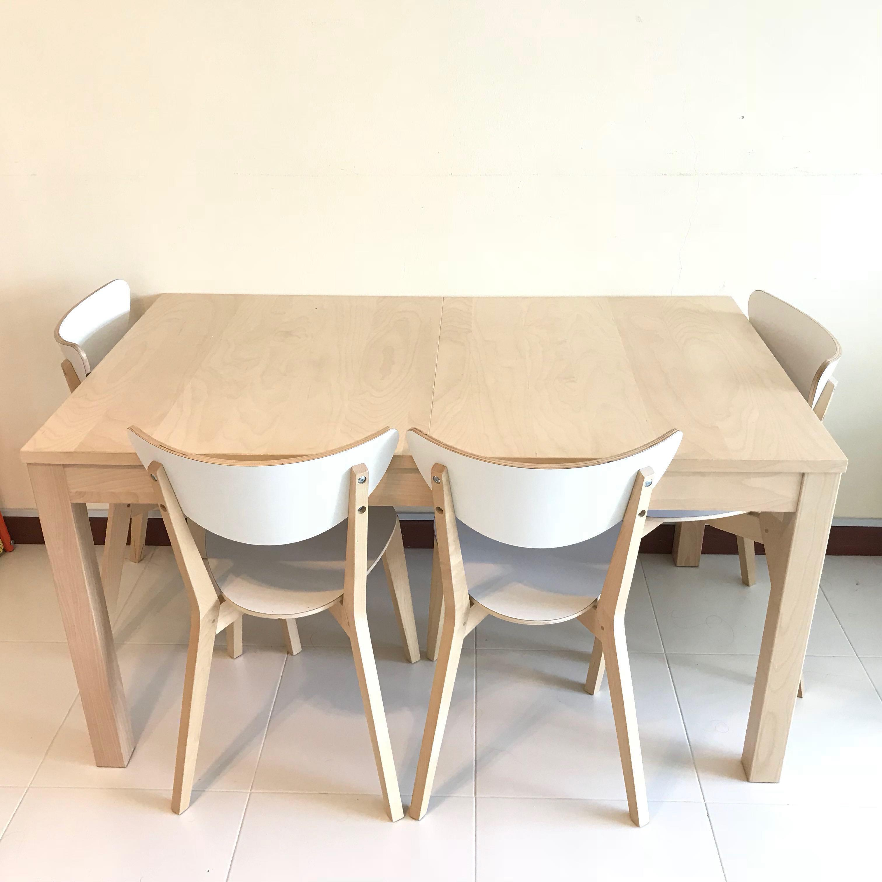 Ikea Bjursta Extendable Table Furniture Tables Chairs On Carousell