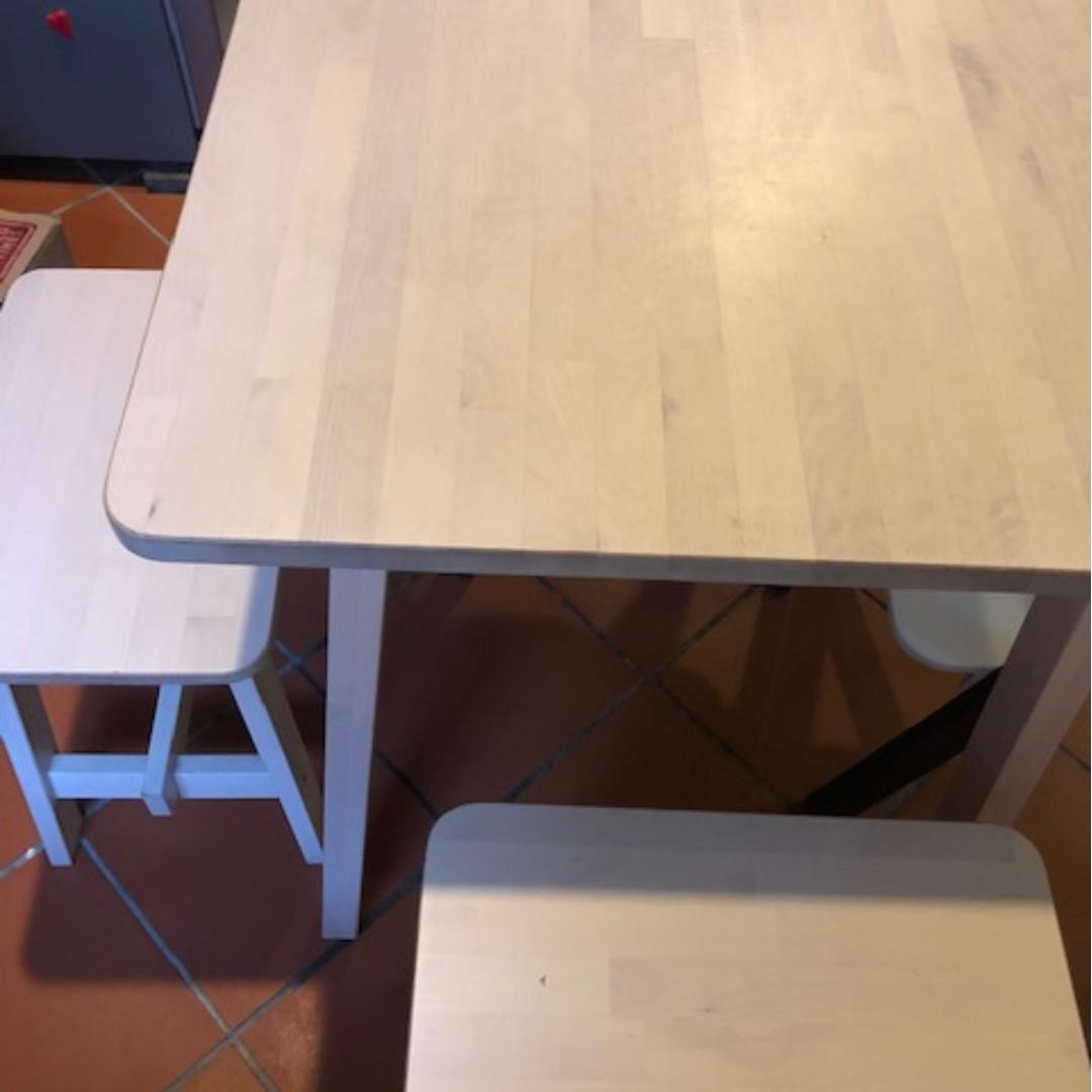 Ikea Small Dining Table And Chairs Furniture Tables Chairs On Carousell