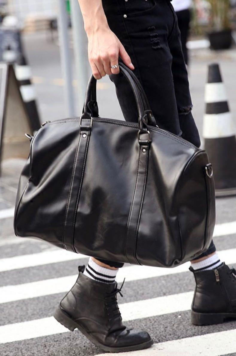 15bd35fed7 ✓️INSTOCK! Getaway Large Duffel Bag - Black Gym Bag - Minimalist ...