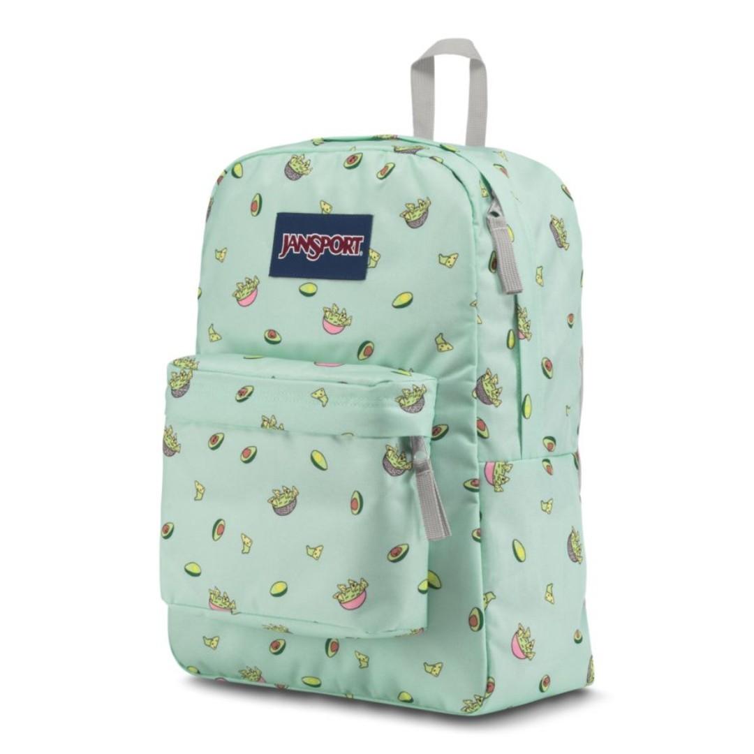 84fce51b1 JANSPORT Superbreak Backpack - AVOCADO PARTY, Women's Fashion, Bags ...