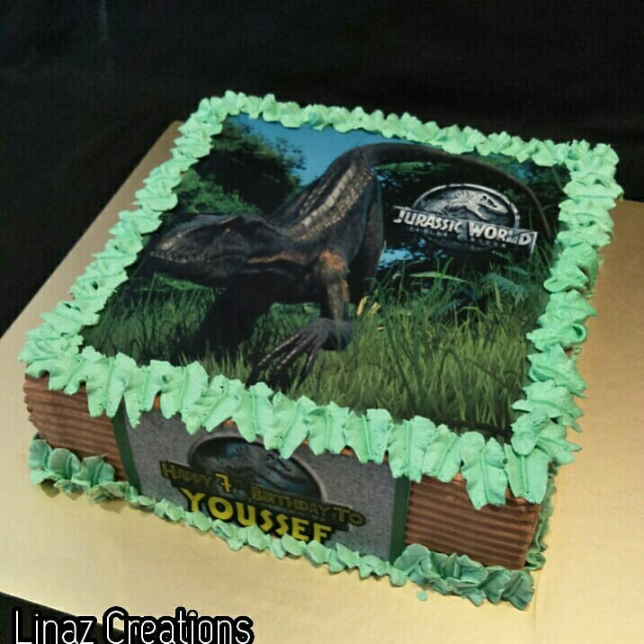 Jurassic World Theme Cake Need A CUSTOMISED CAKES Contact Us At