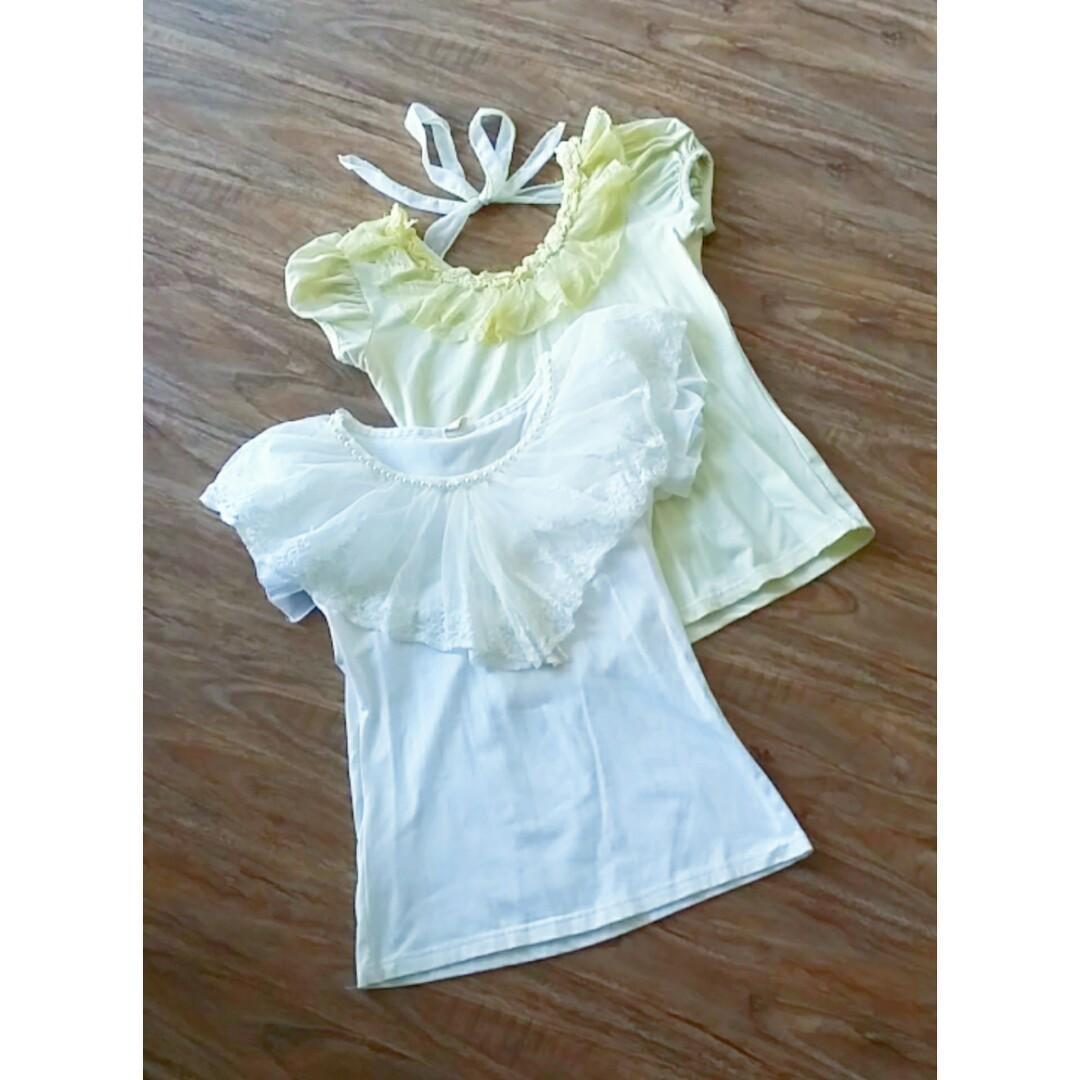 Kawaii Lace Collar T-Shirts