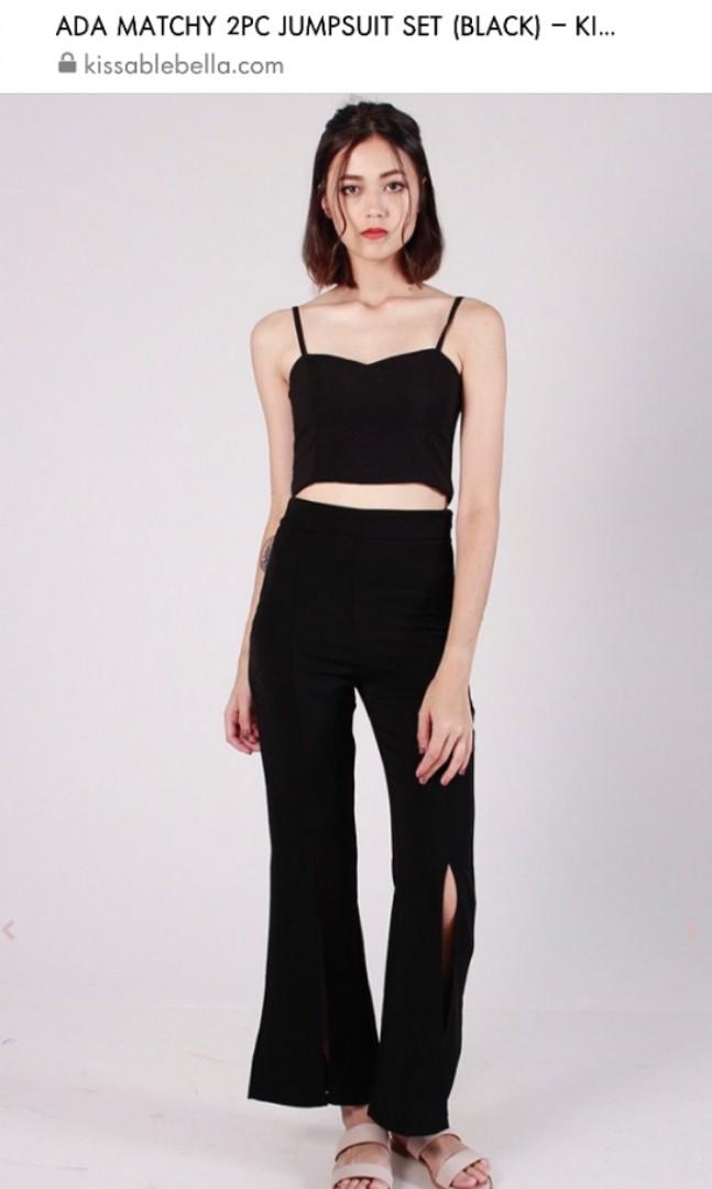 55ec48c7ceb6 Kissablebella 2 pc Ada Jumpsuit set in Black
