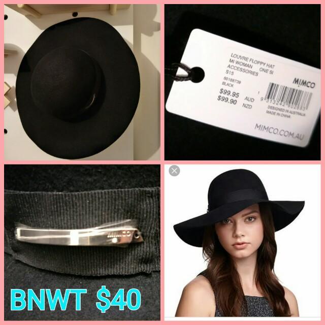 Mimco Floppy Hat BNWT $99.95