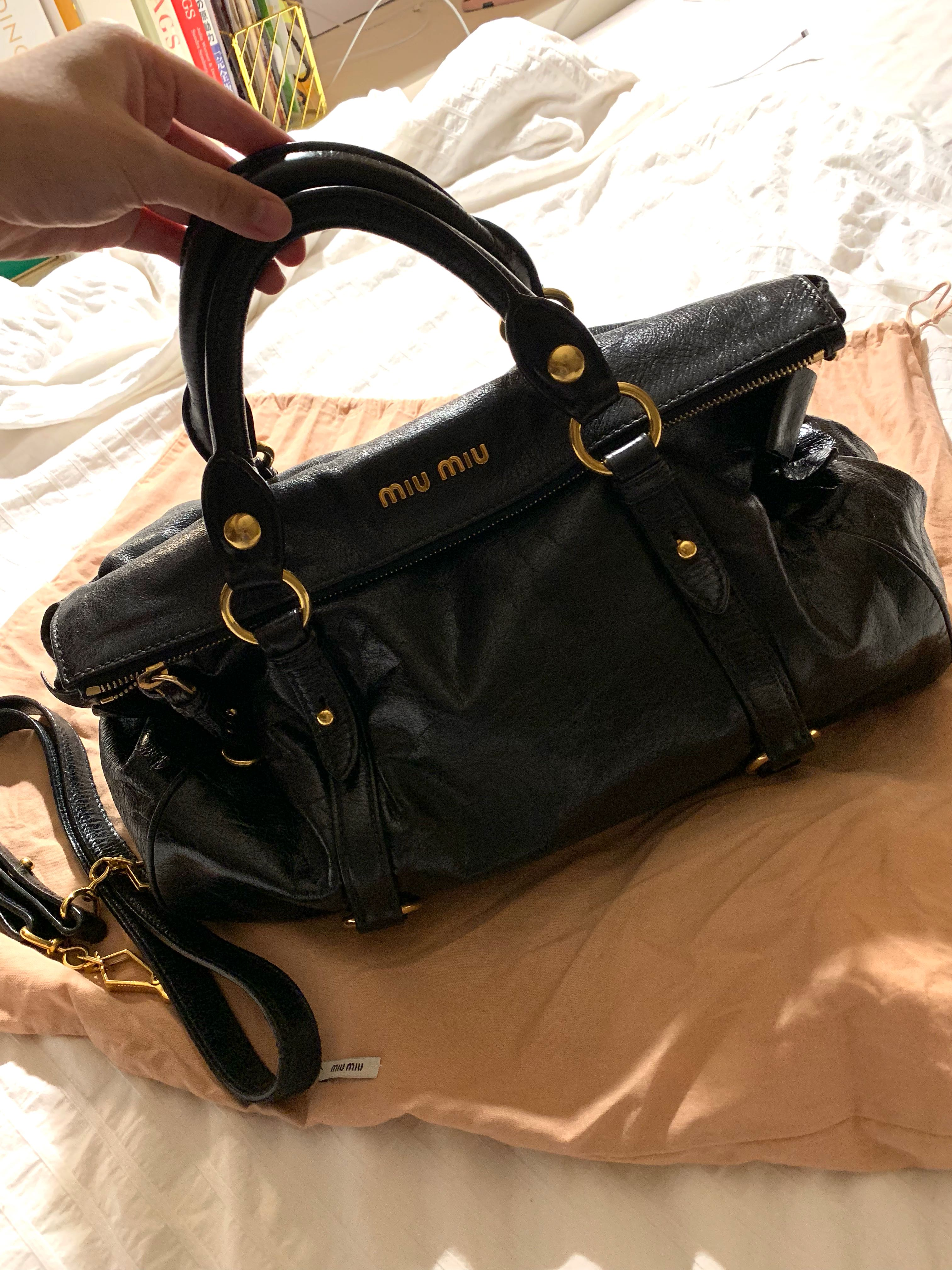 846201c7012 Miu Miu Vitello Lux Bow Bag