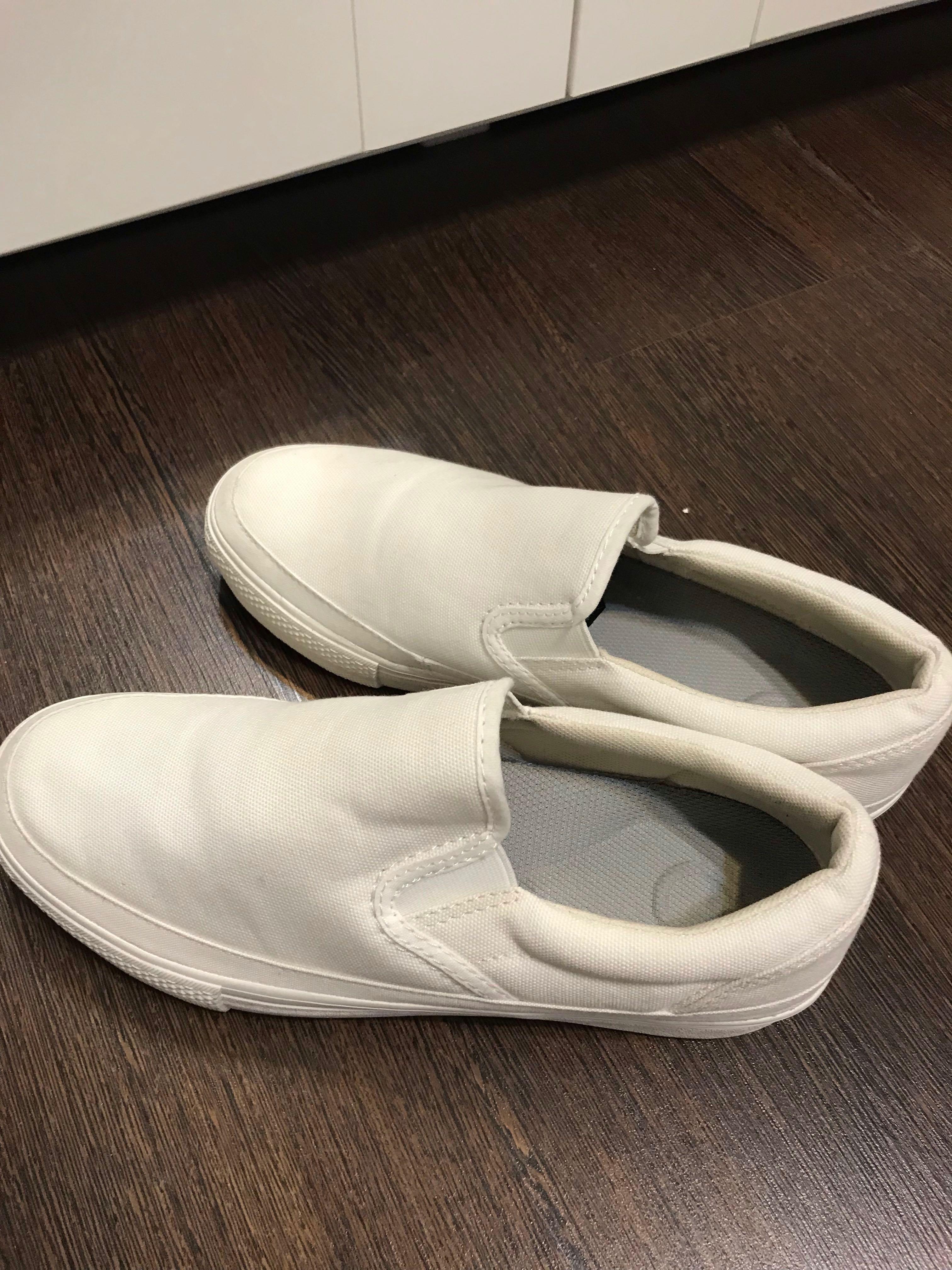 8bde64e58e6d3 Muji Women White Canvas Shoes