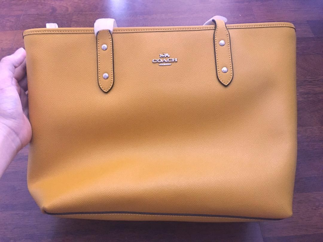 56236a85d2 ... sweden mustard yellow coach tote bag womens fashion bags wallets  handbags on carousell e54af 683d8 ...