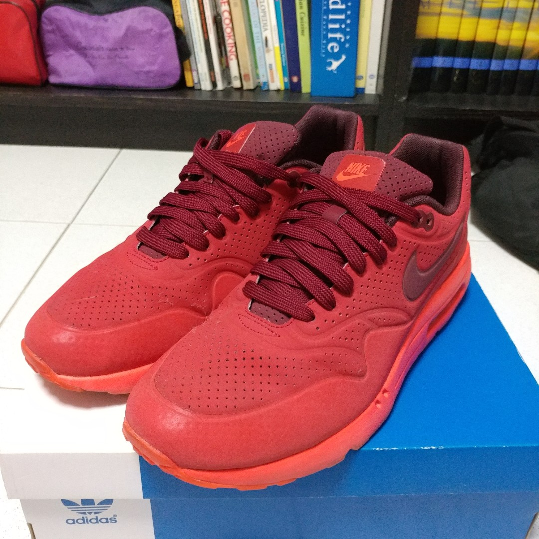 5f8a34ce39 Nike Air Max One 1 Ultra Moire Gym Red Team Red University Red ...