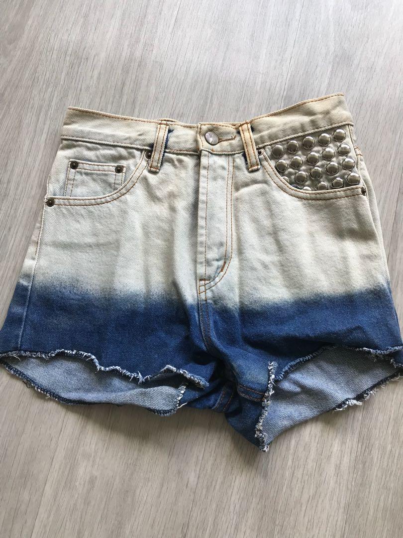 fc0ff829c9 Ombré high waist Denim Shorts, Women's Fashion, Clothes, Pants ...