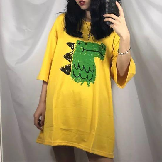 9210a93534cf5d Oversize t shirt tee tshirt ulzzang loose kpop basic plain simple ...