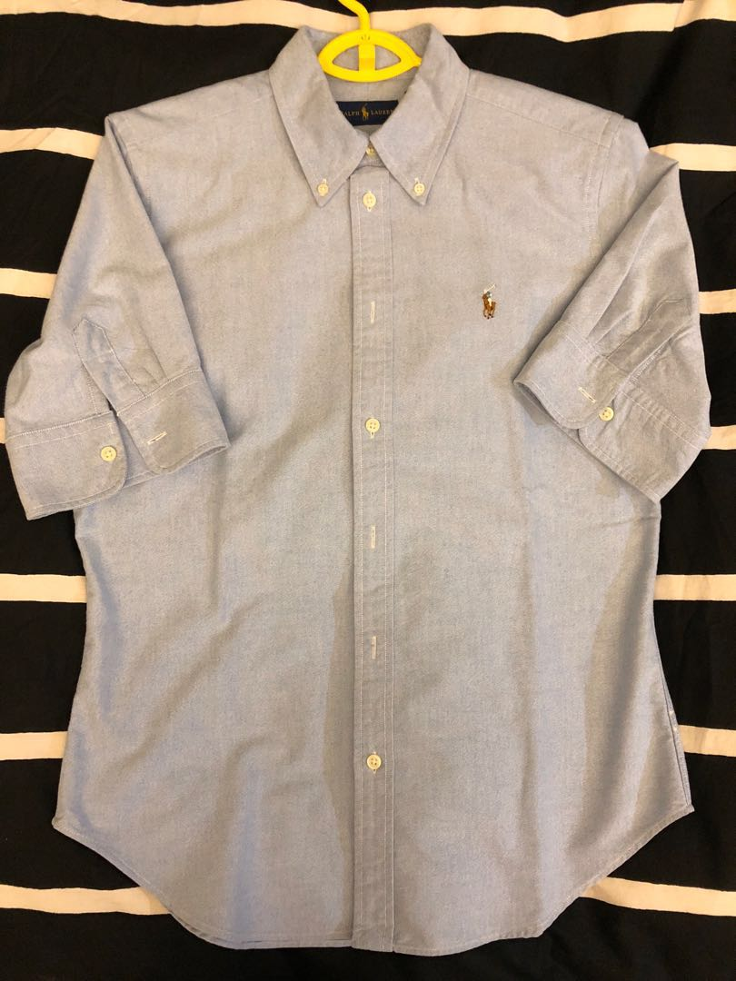 f3d10645fd66b Polo Ralph Lauren Cropped Sleeve Oxford Shirt (Almost New)