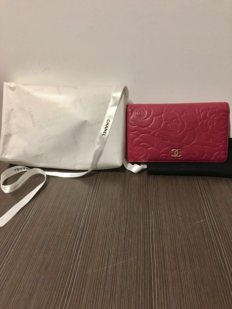 5945ca4149d5 Pre loved Chanel long wallet with camellia design, Luxury, Bags ...