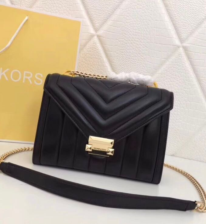 1b167052b030 Ready Stock  - Michael Kors Whitney Black Quilted Small