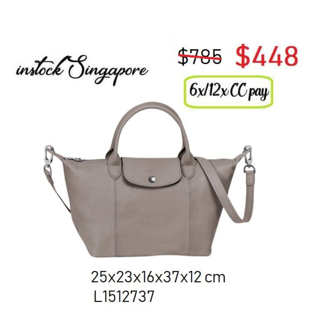 READY STOCK SG - BRAND NEW - AUTHENTIC Longchamp LE PLIAGE cuir ... a4558f52eb87d