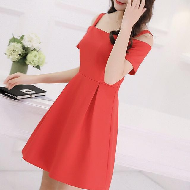 cbd9b5bc47d Red orange mermaid dress Zara chic babydoll dinner and dance dnd gown dress  ulzzang Korean wine red dress office formal work event outfit bodycon sweet  cute ...