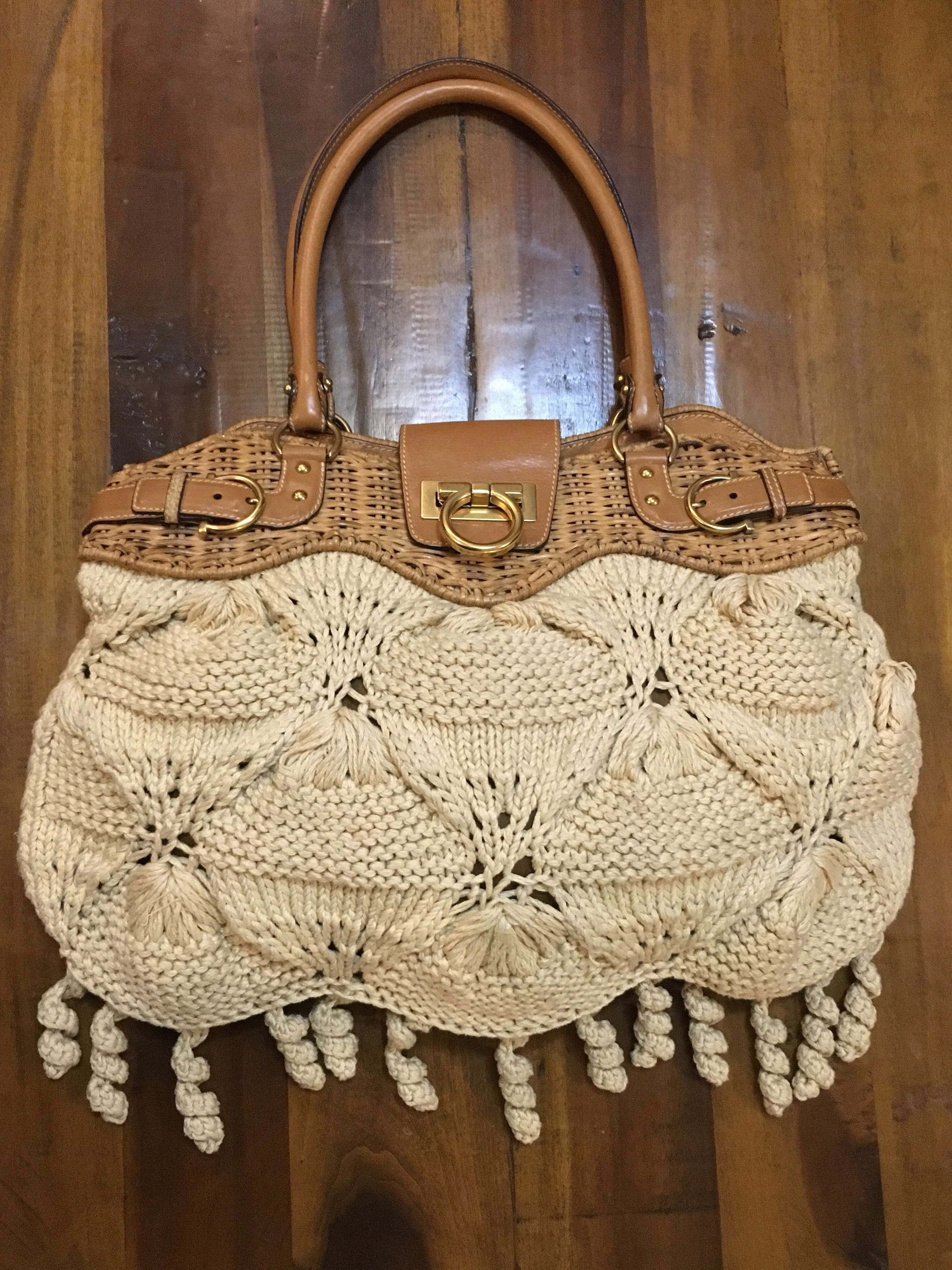 Salvatore Ferragamo Crochet Bag, Women s Fashion, Bags   Wallets, Handbags  on Carousell c27b6bf0f8