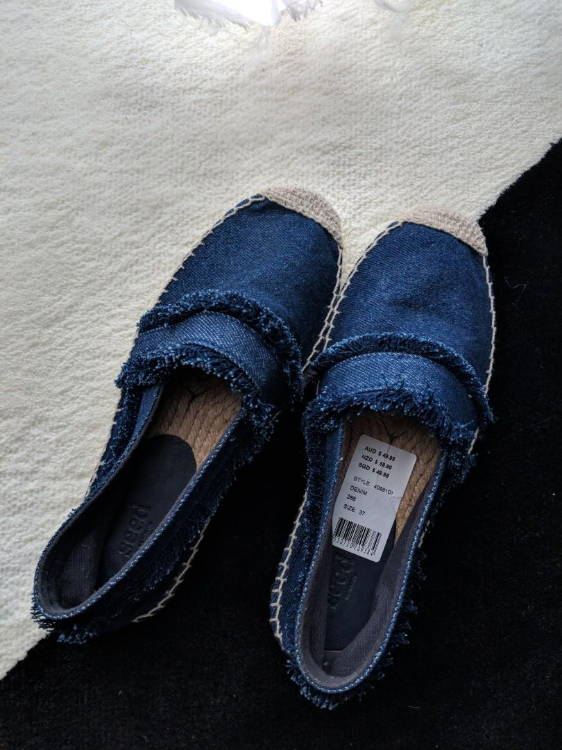 Seed Denim Espadrilles - NEVER WORN