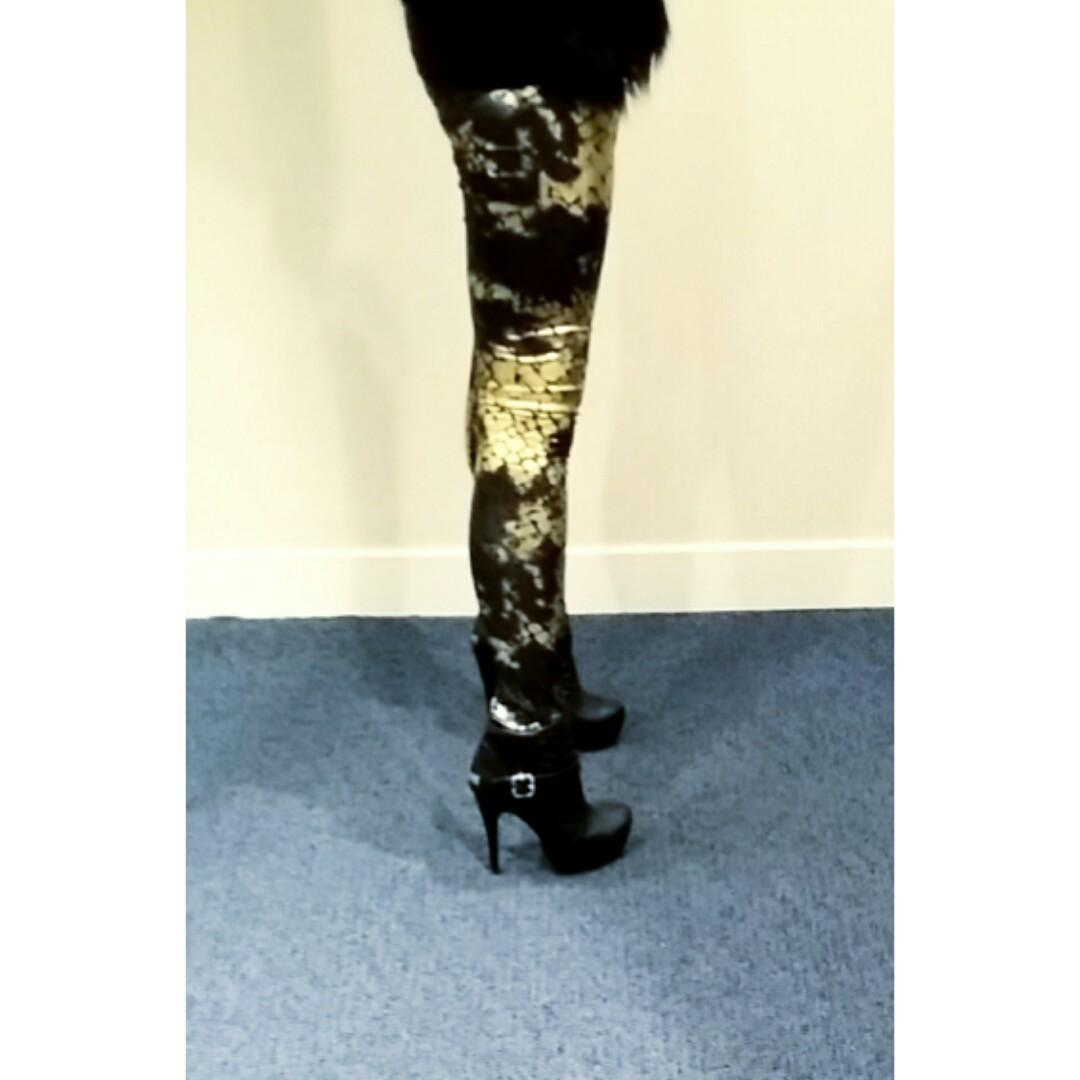 Stretchy Faux Snake Leggings