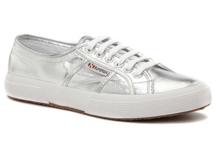 Superga silver sneakers - brand new