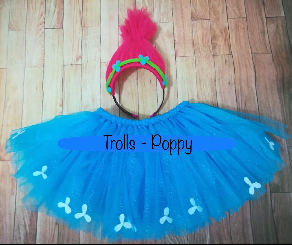 4d197f786334d Trolls-Poppy Tutu and Headband set, Babies & Kids, Girls' Apparel, 4 ...