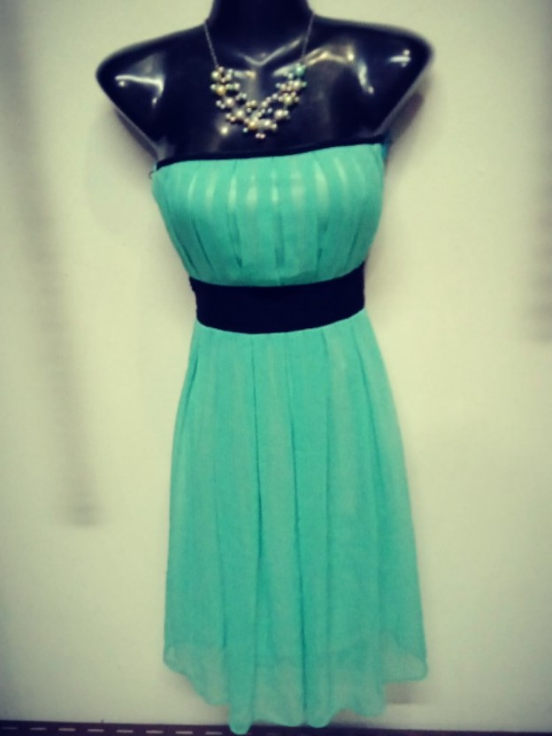 c973dff7dd2 Tube Dress - with black waistline sash