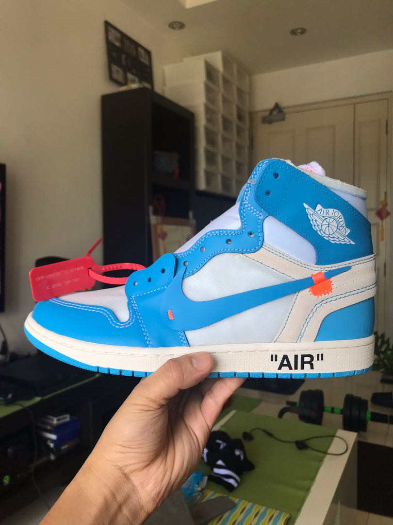 promo code 8e77d 4801d US11  Air Jordan 1 Retro High OG X Off-White (UNC), Men s Fashion ...