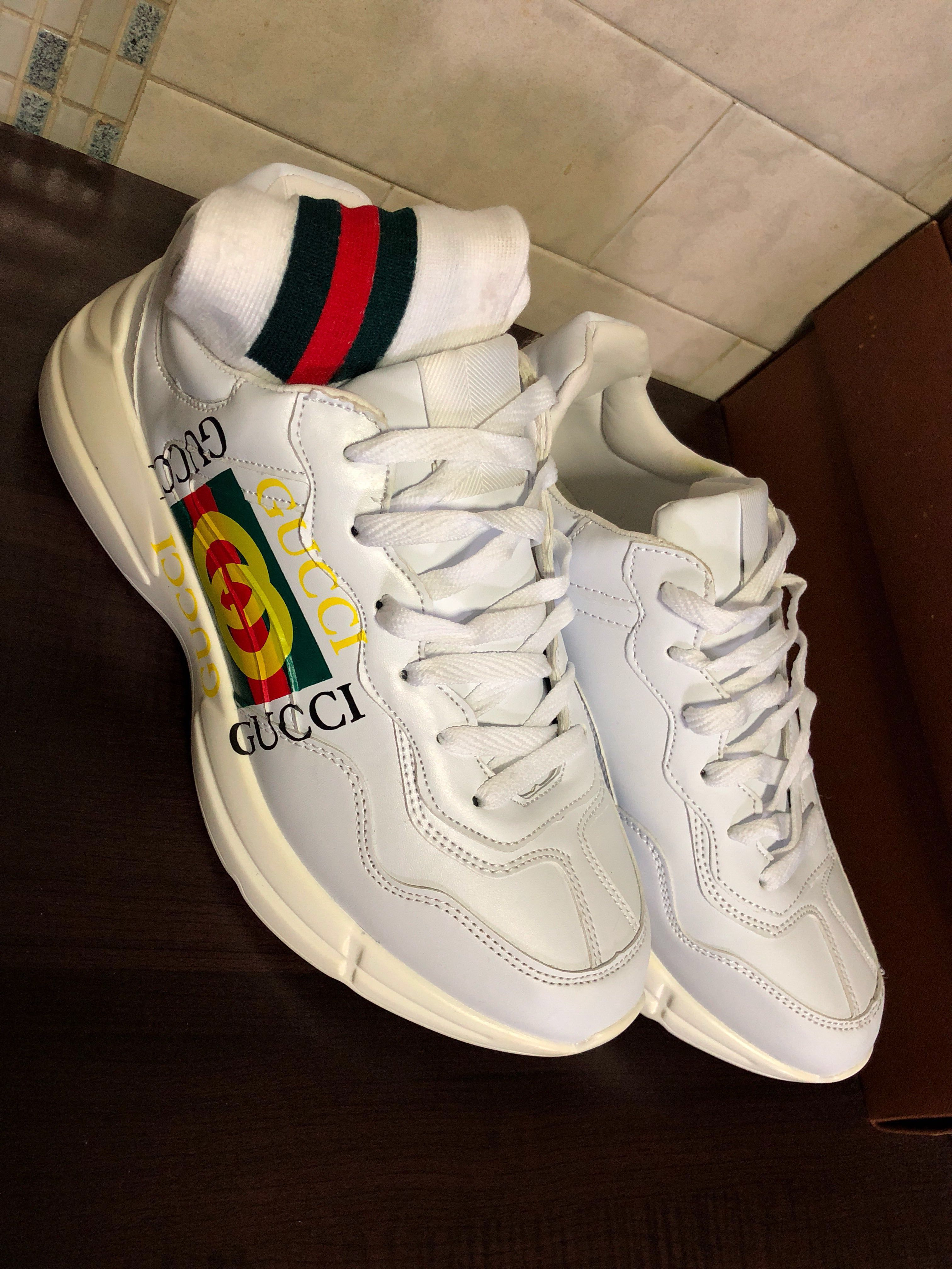 7d8514d1c79 USED) Gucci Rhyton Chunky Sneakers