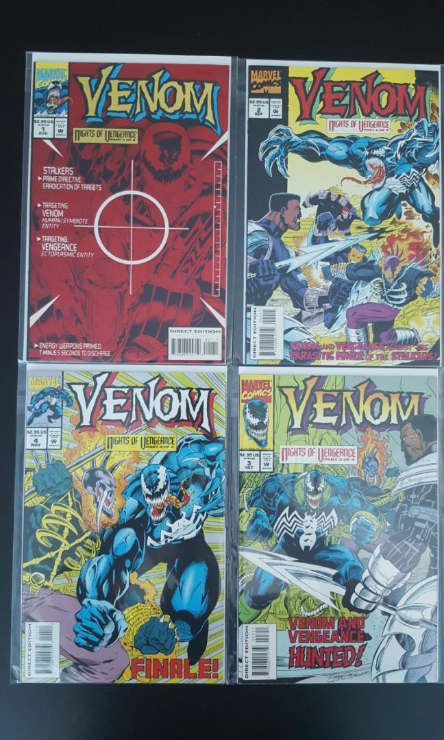 VENOM NIGHTS OF VENGEANCE #1 2 3 4 Marvel Comic Book Series NM 1994