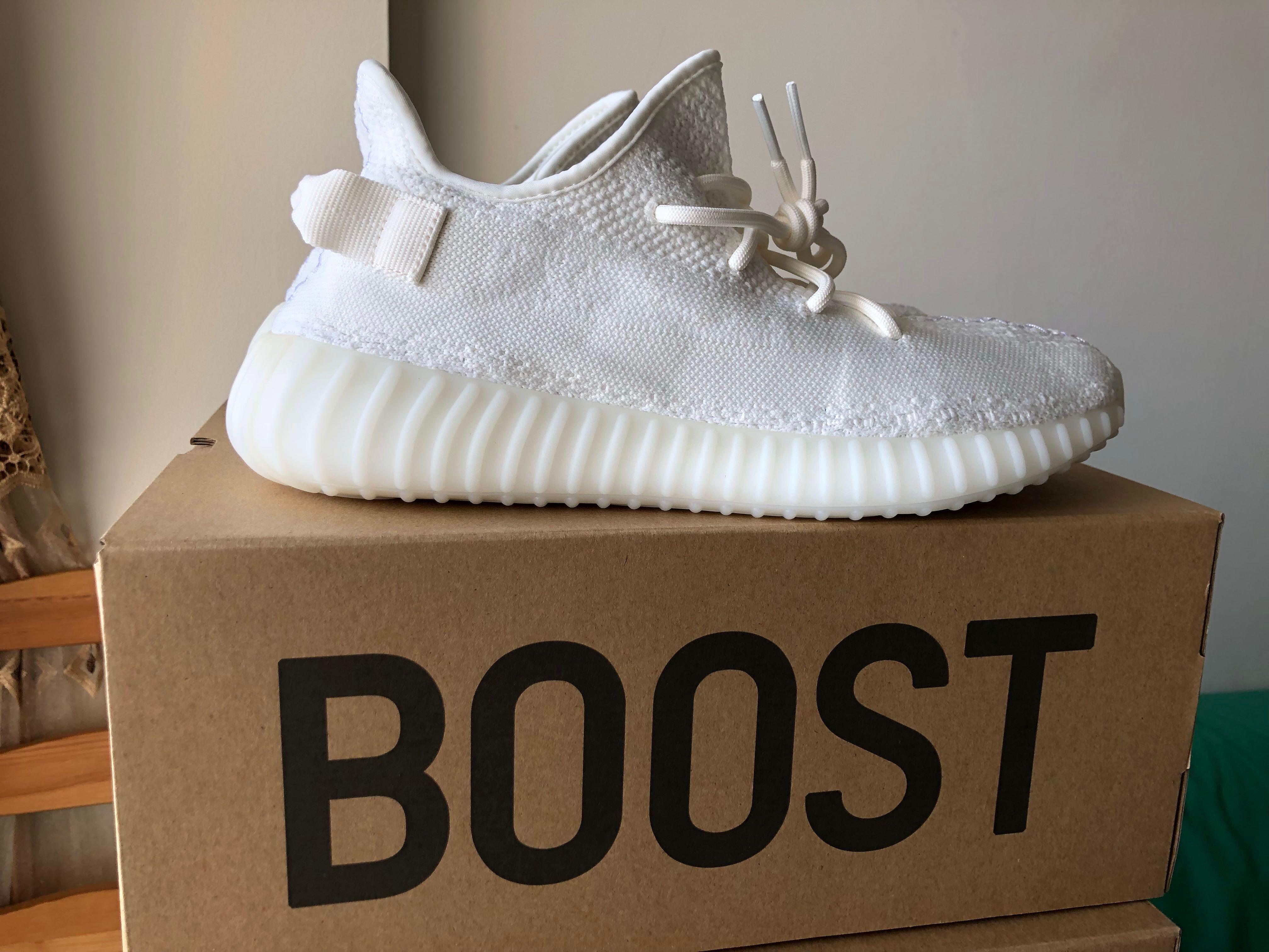 d9ff5be5 Yeezy Boost 350 V2 Cream White US11/UK10.5, Men's Fashion, Footwear ...