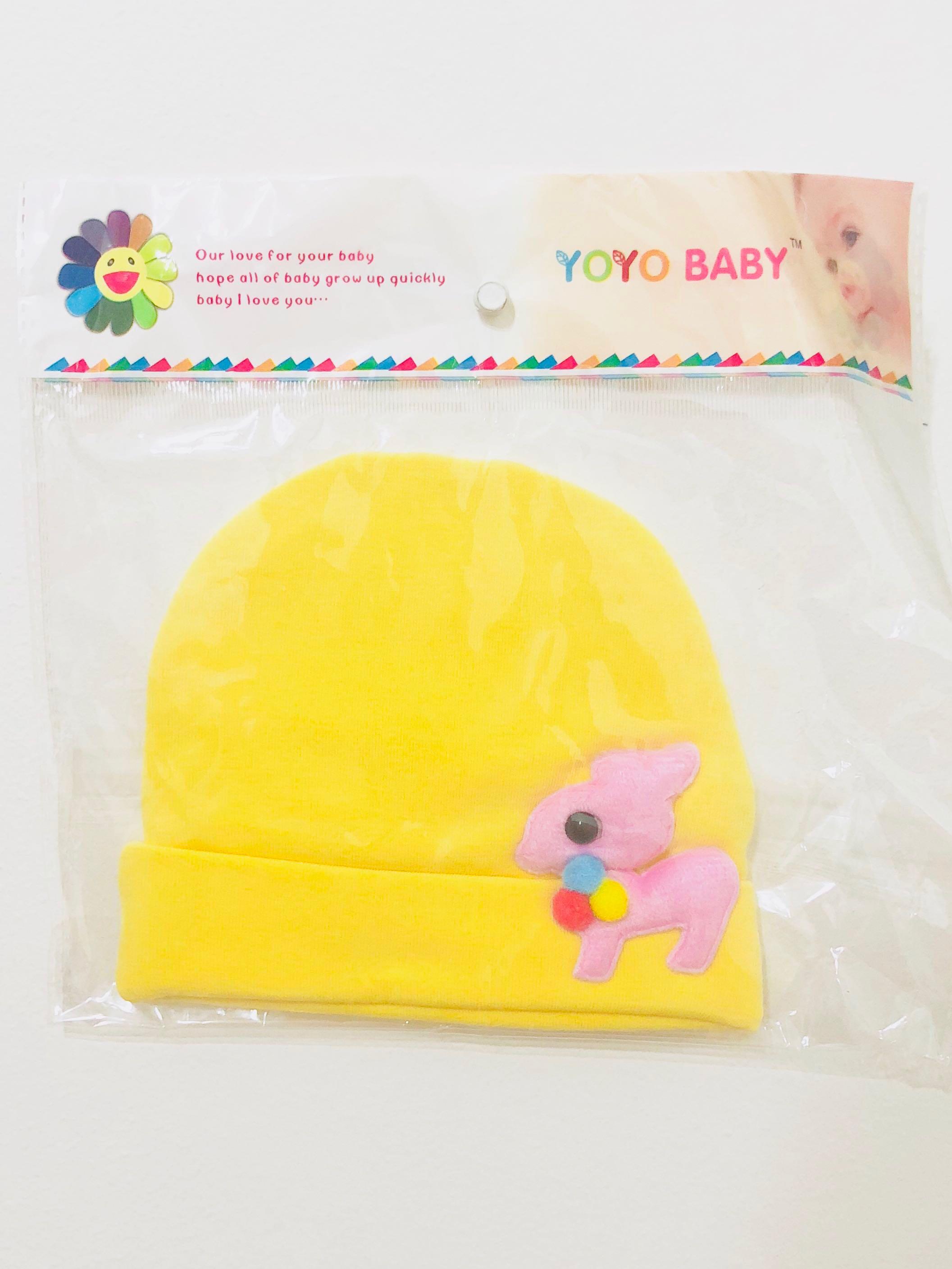 Yoyo Baby™ Newborn Baby Infant Cap   Hat   Beanie (Yellow Color) 9e9e57e300a
