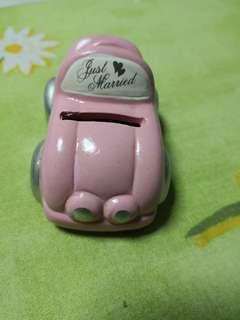Just married little toy car decoration