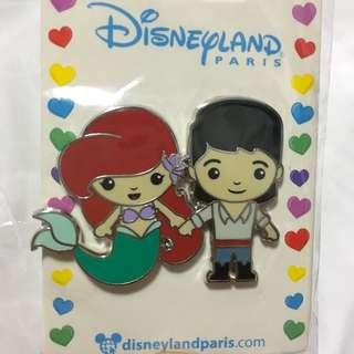 巴黎迪士尼襟章 小魚仙 Little Mermaid Ariel Eric (Paris Disneyland - Pin Trade logo)