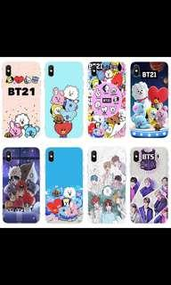 [PO] BTS BT21 CUTE PATTERN TPU PHONE CASE / COVER
