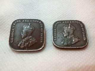 英皇佐治五世 錢幣1仙 1920 George V King