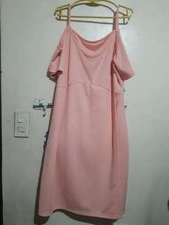 Preloved Dress (cold shoulder with slit)