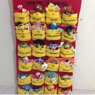 BN McDonalds Sesame Street Mini Bean Pals Set